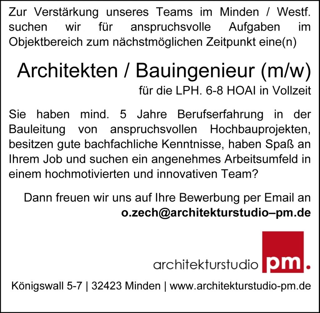 Architekt Minden architekturstudio pm aktuelles